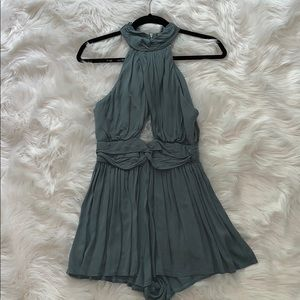 LF Stores Green Wrap Romper Size 10 (Medium)